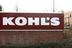 The sign outside a Kohl's store is seen in Broomfield, Colorado in this February 27, 2014, file photo. REUTERS/Rick Wilking/Files