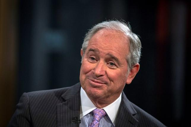 File photo of Stephen A. Schwarzman, Chairman and Chief Executive Officer of The Blackstone Group, looks on during an interview with Maria Bartiromo, on her Fox Business Network show; ''Opening Bell with Maria Bartiromo'' in New York February 27, 2014. REUTERS/Brendan McDermid