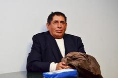 Ex-presidente de federação de futebol da Guatemala Brayan Jimenez em foto de divulgação na Cidade da Guatemala antes de ser extraditado para os Estados Unidos. 01/03/2016 REUTERS/Minex/Divulgação