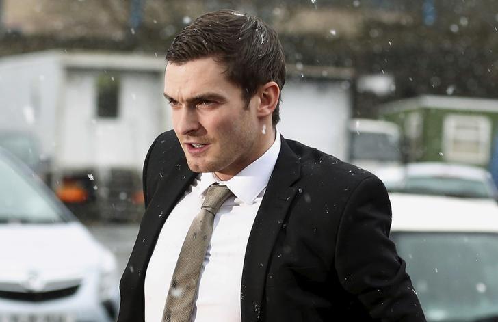 Former Sunderland soccer player Adam Johnson arrives at Bradford Crown Court in Bradford, Britain March 2, 2016. REUTERS/Phil Noble
