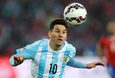 Lionel Messi durante partida da seleção argentina em Santiago, Chile.   04/07/2015      REUTERS/Jorge Adorno