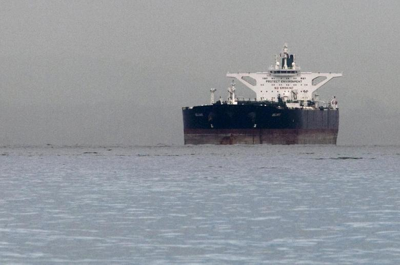 Malta-flagged Iranian crude oil supertanker ''Delvar'' is seen anchored off Singapore in this March 1, 2012 file photo.   REUTERS/Tim Chong/Files