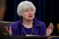 U.S. Federal Reserve Chairman Janet Yellen holds a news conference to announce raised interest rates in Washington, in this file photo taken December 16, 2015. REUTERS/Jonathan Ernst/Files