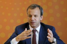 Russian Deputy Prime Minister Arkady Dvorkovich speaks during an interview at the Reuters Russia Investment summit in Moscow, Russia, September 29, 2015. REUTERS/Maxim Shemetov