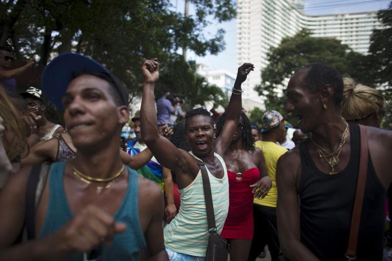 File photo pof eople dancing during the Eighth Annual March against Homophobia and Transphobia in Havana, May 9, 2015. REUTERS/Alexandre Meneghini