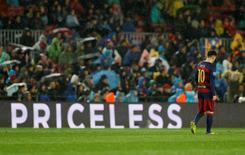 Lionel Messi, do Barcelona, durante partida da Liga dos Campeões.   16/03/2016 Action Images via Reuters / Carl Recine Livepic