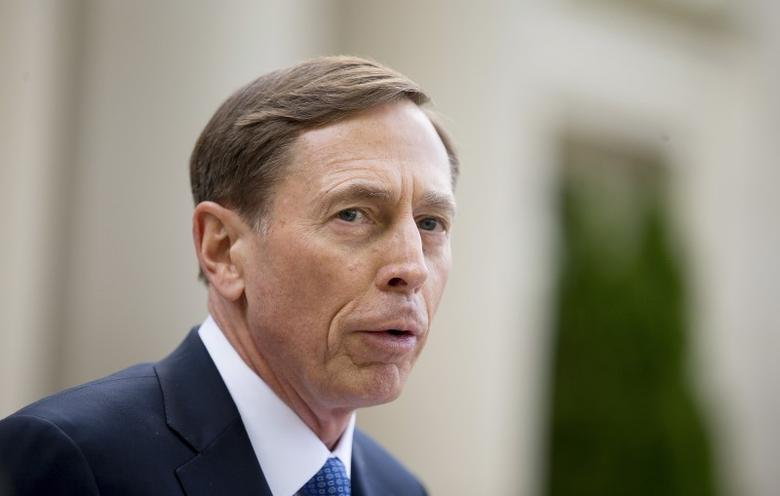 Former CIA director David Petraeus speaks after leaving the Federal Courthouse in Charlotte, North Carolina, in this file photo dated April 23, 2015. REUTERS/Chris Keane