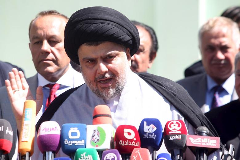 Prominent Iraqi Shi'ite cleric Moqtada al-Sadr speaks during news conference in Najaf, south of Baghdad, March 22, 2016.  REUTERS/Alaa Al-Marjani