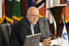 El ministro de Petróleo iraní, Bijan Zanganeh, en una reunión de los países exportadoras de gas en Teherán. 21 de noviembre de 2015. El miembro de la OPEP, Irán, espera participar de una reunión de productores petroleros en Doha el próximo mes pero esto no significa que tomara parte en las negociaciones sobre un congelamiento de la producción de crudo, dijo el martes una fuente familiarizada con el pensamiento iraní. REUTERS/Raheb Homavandi/TIMA