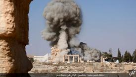 An image distributed by Islamic State militants on social media on August 25, 2015 purports to show the destruction of a Roman-era temple in the ancient Syrian city of Palmyra.    REUTERS/Social Media/Files
