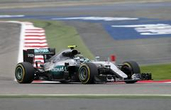 Formula One - Bahrain Grand Prix - Sakhir, Bahrain - 01/04/16 - Mercedes F1 driver Nico Rosberg of Germany drives during the first practice. REUTERS/Hamad I Mohammed.