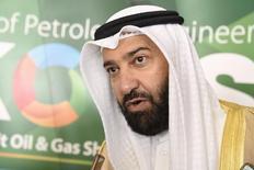 Министр нефти Кувейта Али Аль-Омайр на открытии нефтегазовой выставки и конференции . Участники встречи нефтедобывающих стран в Дохе 17 апреля примут отправное соглашение о заморозке добычи, сказала во вторник представитель Кувейта в ОПЕК Наваль аль-Фузайа, пояснив, что на это указывают все признаки.REUTERS/Stephanie McGehee