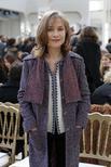 Atriz Isabelle Huppert, em evento de moda da Chanel, em Paris 08/03/2016 REUTERS/Benoit Tessier