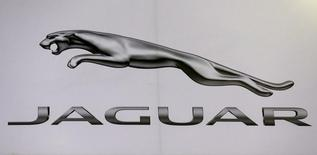 The logo of Jaguar is pictured at at the 37th Bangkok International Motor Show in Bangkok, Thailand, March 22, 2016. Picture taken March 22, 2016. REUTERS/Chaiwat Subprasom