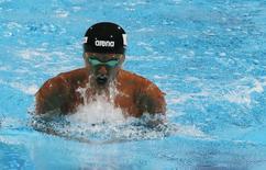 Japan's Kosuke Kitajima swims in the men's 100m breaststroke semi-final during the World Swimming Championships at the Sant Jordi arena in Barcelona July 28, 2013. REUTERS/Gustau Nacarino