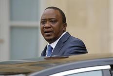 Kenya's President Uhuru Kenyatta leaves the Elysee Palace in Paris, France, April 4, 2016. REUTERS/Benoit Tessier