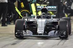 Formula One - Bahrain F1 Grand Prix - Sakhir, Bahrain - 03/04/16 - Mercedes F1 driver Nico Rosberg of Germany sits in his car. REUTERS/Andrej Isakovic