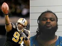 NFL player Will Smith and convicted criminal Cardell Hayes.   REUTERS/Files