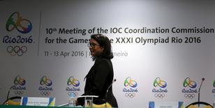 Nawal El Moutawakel chega para entrevista no Rio de Janeiro. 13/4/2016. REUTERS/Pilar Olivares