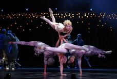 Artists from Cirque du Soleil perform at the Royal Albert Hall in London, in this file photo taken January 4, 2014.   REUTERS/Luke MacGregor/Files
