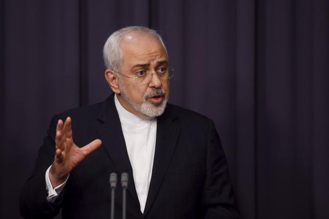 Iranian Foreign Minister Mohammad Javad Zarif speaks during a joint news conference with Australian Foreign Minister Julie Bishop (not pictured) at Australia's Parliament House in Canberra, March 15, 2016. REUTERS/Lukas Coch/AAP
