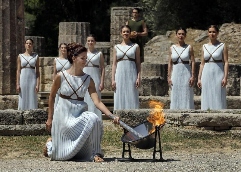 Rio Games Countdown Starts With Olympia Torch Lighting