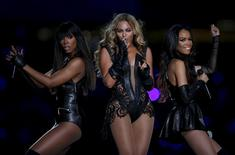 Beyonce (C) and Destiny's Child perform during the half-time show of the NFL Super Bowl XLVII football game in New Orleans, Louisiana on February 3, 2013. REUTERS/Jeff Haynes