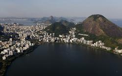 Vista aérea da Lagoa Rodrigo de Freitas, no Rio de Janeiro. 25/04/2016 REUTERS/Ricardo Moraes