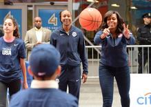 Michelle Obama participa de evento em NY sobre a Olimpíada. 27/4/2016. Reuters/Robert Deutsch-USA TODAY Sports