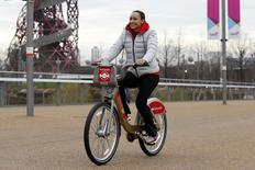Jessica Ennis-Hill launches extension of Santander Cycles to Queen Elizabeth Olympic Park  Action Images via Reuters / Peter Cziborra