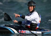 Britain Canoeing - British Canoe Slalom Olympic & Senior team media day - Lee Valley White Water Centre  - 5/5/16 Great Britain's Fiona Pennie during training   Action Images via Reuters / Paul Childs
