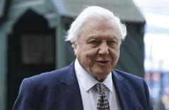 Naturalist David Attenborough arrives for a memorial service for his brother Richard Attenborough at Westminster Abbey in London March 17, 2015. REUTERS/Suzanne Plunkett