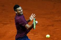 Tennis - Madrid Open - Nick Kyrgios of Australia v Kei Nishikori of Japan- Madrid, Spain - 6/5/16 Kyrgios returns the ball. REUTERS/Susana Vera