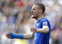 Atacante Jamie Vardy, do Leicester City.   17/04/2016 Reuters / Darren Staples Livepic