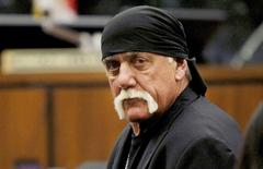 Terry Bollea, aka Hulk Hogan, sits in court during his trial against Gawker Media, in St Petersburg, Florida March 17, 2016.    Dirk Shadd/Tampa Bay Times/Pool via Reuters