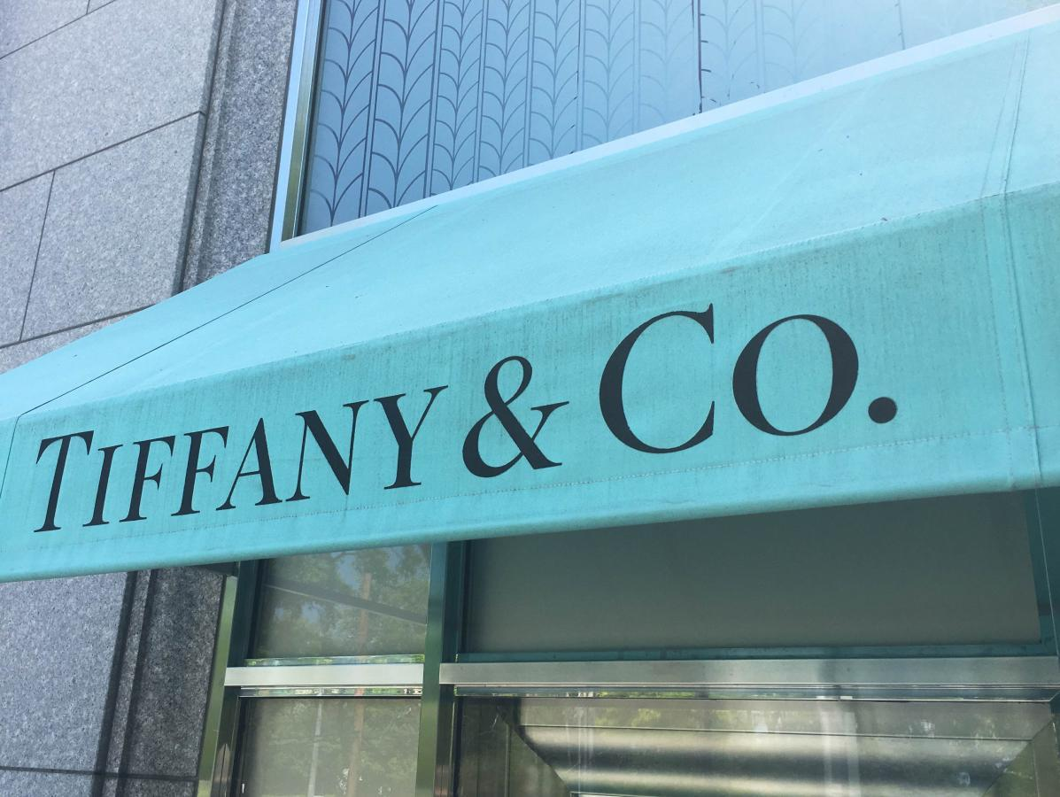 947ccddd782f The Tiffany   Co. logo is seen on an awning of their store in Manhasset