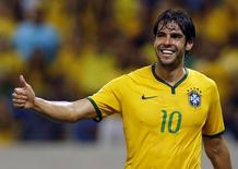 Kaká durante amistoso da seleção em Fortaleza.    13/10/2015         REUTERS/Paulo Whitaker