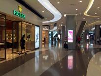 A view of a shopping mall in Sanya on Hainan Island, China May 11, 2016.  REUTERS/Farah Master