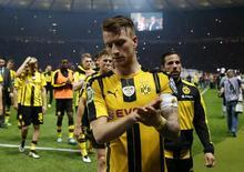 Marco Reus, do Borussia Dortmund, após a final da Copa da Alemanha contra o Bayern de Munique, em Berlim. 21/05/2016 REUTERS/Fabrizio Bensch