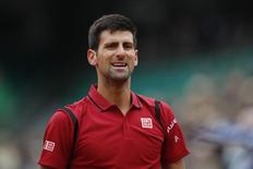 Tenista sérvio Novak Djokovic durante partida contra tcheco Thomas Berdych em Roland Garros. 02/06/2016 REUTERS/Benoit Tessier