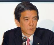 Shigesuke Kashiwagi, Chief Financial Officer of Nomura Holdings, attends a news conference at Tokyo Stock Exchange (TSE) in Tokyo, Japan, in this photo taken by Kyodo on April 26, 2013. Mandatory credit Kyodo/via REUTERS