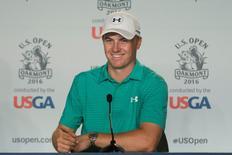 Golfista Jordan Spieth durante entrevista coletiva.  13/06/2016      Kyle Terada-USA TODAY Sports