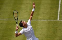Britain Tennis - Aegon Championships - Queens Club, London - 15/6/16 Canada's Milos Raonic in action during the first round Action Images via Reuters / Tony O'Brien