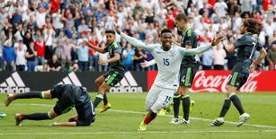Football Soccer - England v Wales - EURO 2016 - Group B - Stade Bollaert-Delelis, Lens, France - 16/6/16 England's Daniel Sturridge celebrates scoring their second goal REUTERS/Christian Hartmann