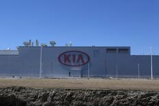 A general view shows the Kia Motors manufacturing plant in Pesqueria, on the outskirts of Monterrey, Mexico, April 3, 2016. REUTERS/Daniel Becerril