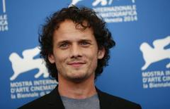"""Cast member Anton Yelchin poses during the photo call for the movie """"Burying the ex"""" at the 71st Venice Film Festival September 4, 2014. REUTERS/Tony Gentile/File Photo"""