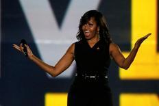 Michelle Obama durante evento em Orlando.  8/5/2016.  REUTERS/Carlo Allegri