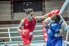 Boxing - 2016 World Olympic Qualification Event - Sarhadchi Sports Olympic Centre - 17/6/16   Robeisy Ramirez of Cuba in action against Arslan Khataev of Finland.  Karim de la Plaine/AIBA/Handout via REUTERS