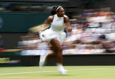 Britain Tennis - Wimbledon - All England Lawn Tennis & Croquet Club, Wimbledon, England - 28/6/16 USA's Serena Williams in action against Switzerland's Amra Sadikovic REUTERS/Stefan Wermuth