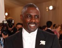 """Actor Idris Elba arrives at the Metropolitan Museum of Art Costume Institute Gala (Met Gala) to celebrate the opening of """"Manus x Machina: Fashion in an Age of Technology"""" in the Manhattan borough of New York, May 2, 2016.  REUTERS/Lucas Jackson"""